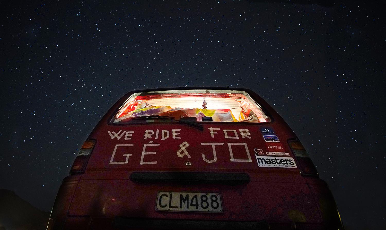 il furgone sotto le stelle