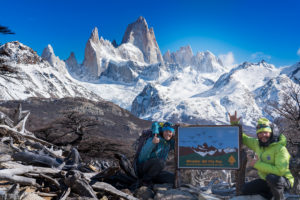 Parque nacional Los Glaciares, sullo sfondo il Fitz Roy