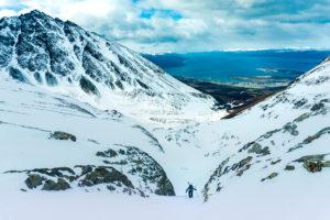 Salendo verso il Glaciar Martial