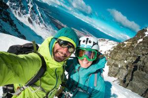 Foto di vetta in cima al Glaciar Martial